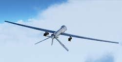 The General Atomics MQ-1 Predator is a military drone average cruising altitude and long autonomie entered service in 1995.